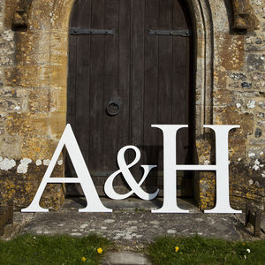 Bespoke Wooden Letter - outdoor decorations