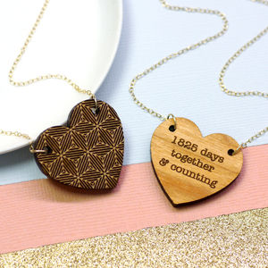 Personalised Geometric Heart Necklace - necklaces & pendants