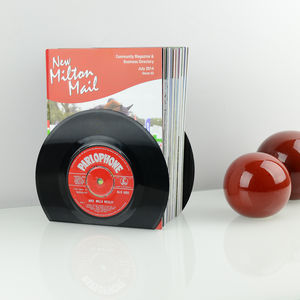 Small Vinyl Record Bookends 45's - bookends