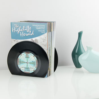 Small Vinyl Record Bookends 45's