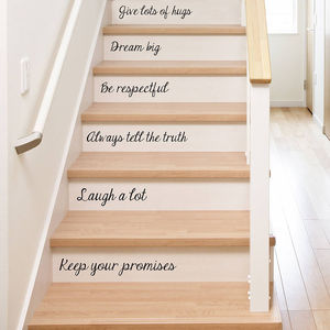 Family Rules Stair Stickers - wall stickers