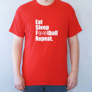 Men's 'Eat Sleep Football Repeat' T Shirt