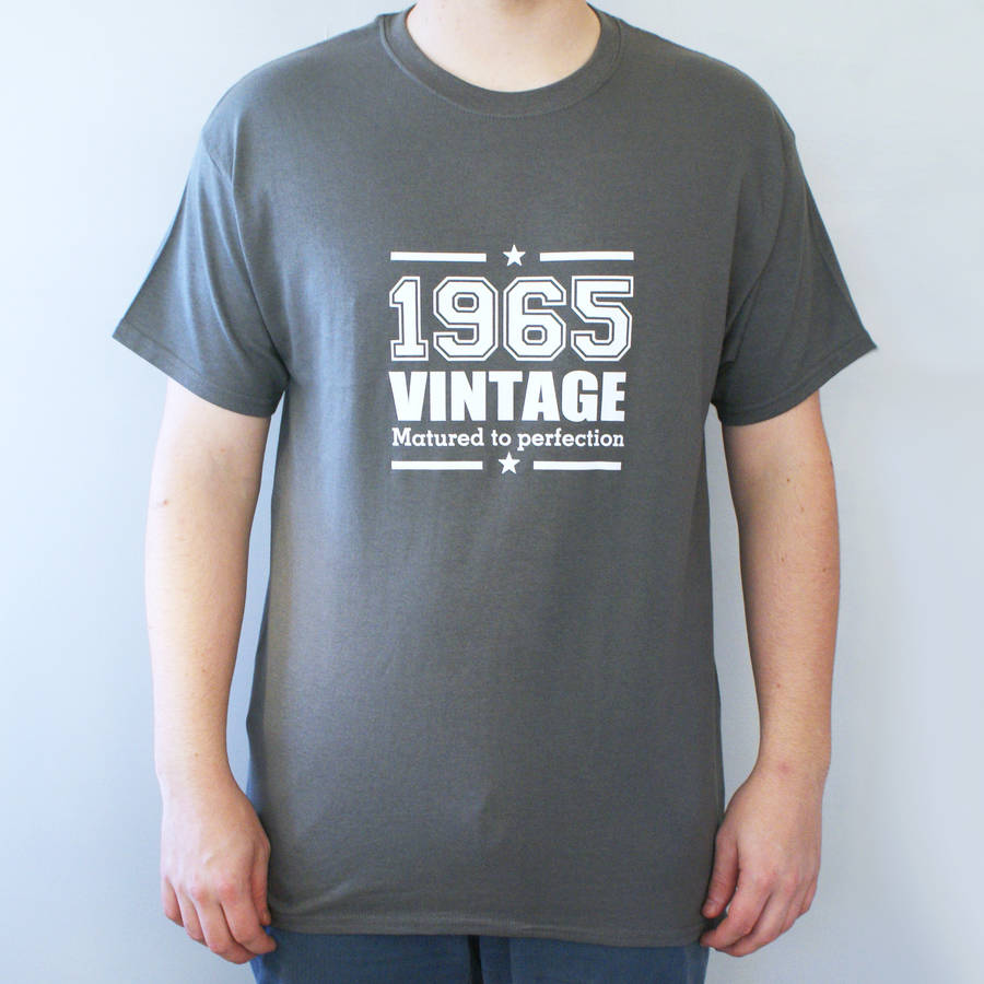 Personalised Men's Vintage T Shirt