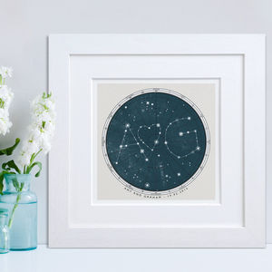 Personalised Star Map Print - personalised