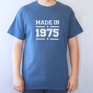Personalised Men's Birth Year T Shirt