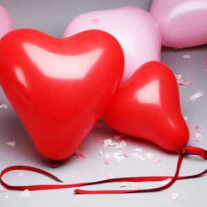 Love Heart Shaped Balloons - hen party styling