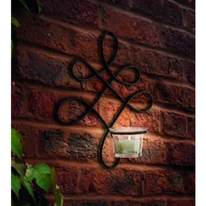 Verona Wall Art Sconce Metal Tealight Candle Holder - candles & candlesticks