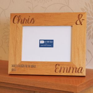 Personalised Names Photo Frame - picture frames