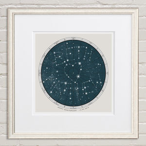 Personalised Extra Large Star Map Print