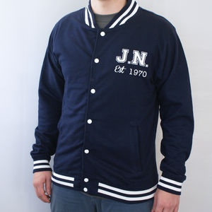 Personalised Men's College Jacket - coats & jackets