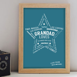 Grandad Loves Print - gifts for grandfathers