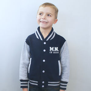 Personalised Kids College Jacket