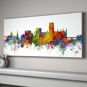 Durham City Skyline - canvas prints & art