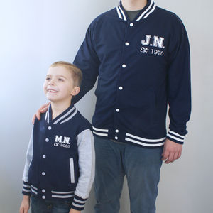 Personalised Daddy And Me Jacket Set - sweatshirts & hoodies