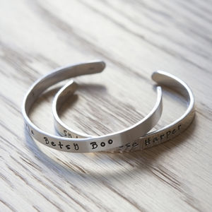 Child's Personalised Wish Bangle - christening gifts