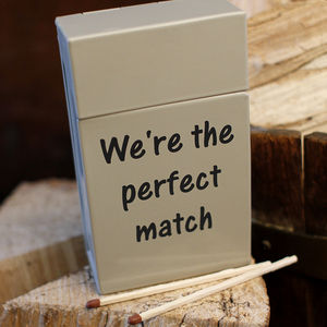 Enamel Match Box Holder - gifts for him