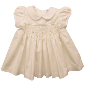 Hand Smocked Rosebud Dress And Pants