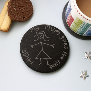 Child's Drawing Personalised Coaster