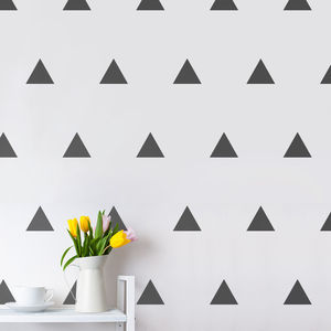 Triangles Wall Sticker Set - decorative accessories