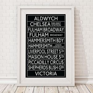 Aldwych To Victoria Station Bus Blind Framed Print