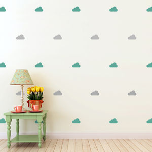 Mini Clouds Wall Stickers Set