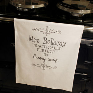 Personalised Practically Perfect Tea Towel - kitchen accessories