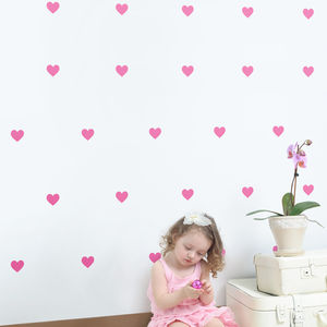 Mini Hearts Wall Stickers Set - wall stickers