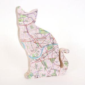 Map Cat - ornaments