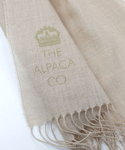 The Alpaca Co. Printed Scarf Natural - scarves