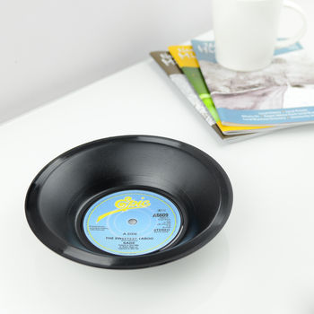 Small Vinyl Record Bowl 45's