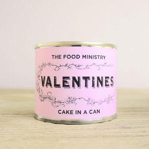 Valentines Cake In A Can - gifts for him