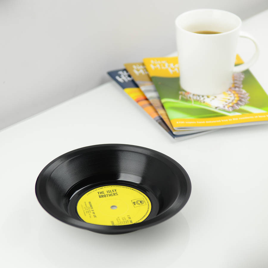 Small Vinyl Record Bowl 45 S By Vinyl Village