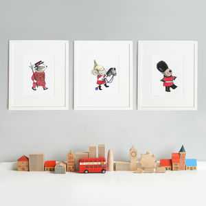 Personalised London Guard Nursery Print