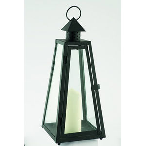 Black Wickham Candle Lantern 30cm - lighting