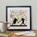 Personalised Football Map Print