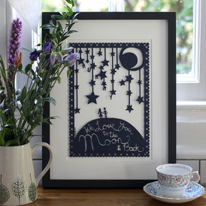 'Love You To The Moon' Mother's Day Picture - posters & prints