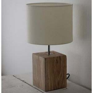 Reclaimed Elm Table Lamp 46cm - lighting