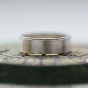 Men's Decorated Wedding Ring - rings