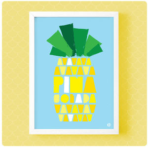 Pina Colada Print - children's room