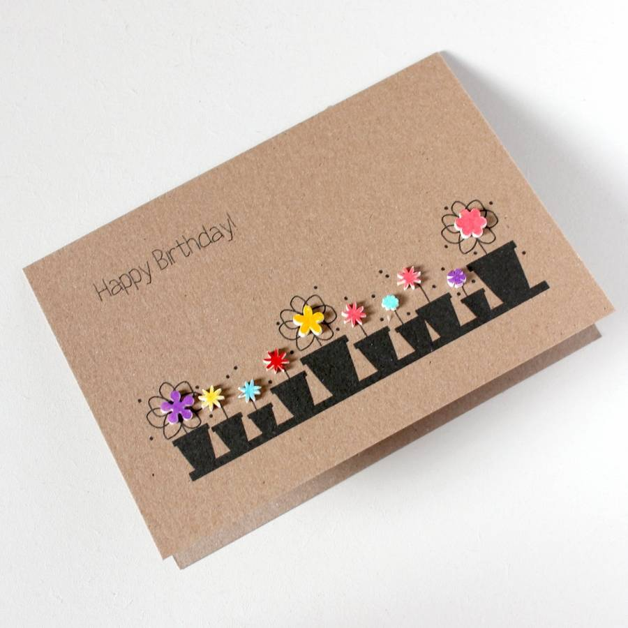 Personalised Happy Birthday Card Floral