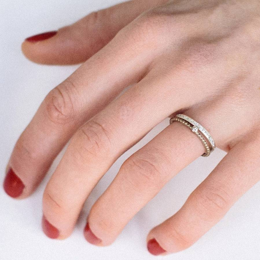 skinny diamond eternity ring by alison macleod | notonthehighstreet.com