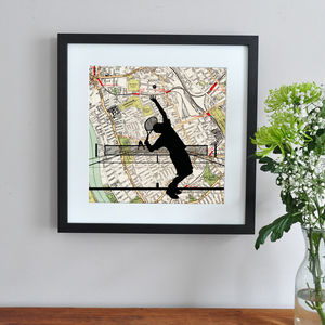 Personalised Tennis Player Print - wimbledon inspiration