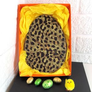 Chocolate Easter Egg With Leopard Print - children's easter