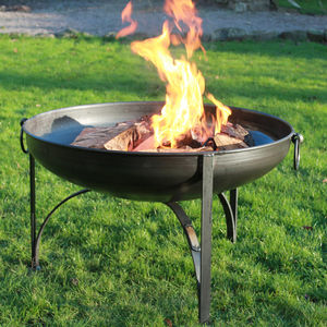 Plain Jane Firepit - summer garden