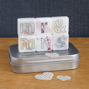Mr And Mrs Decorative Letter Tiles