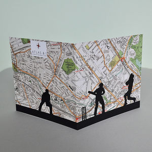 Cricket Card With Lords Map - birthday cards