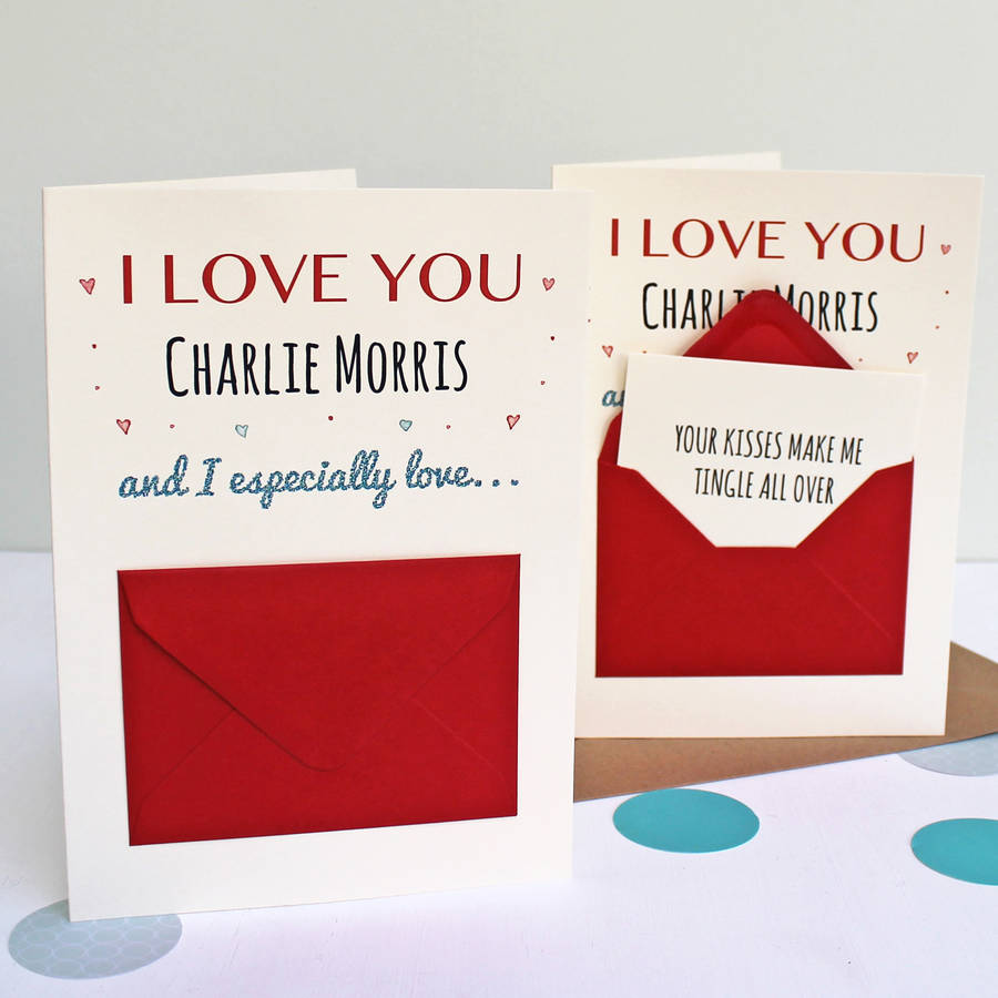Superior Reasons I Love You Secret Messages Card