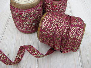 Pink And Gold Fiena Ribbon - shop by category
