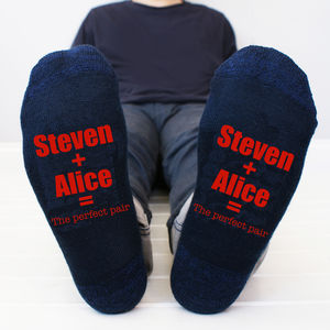 Personalised 'The Perfect Pair' Men's Socks