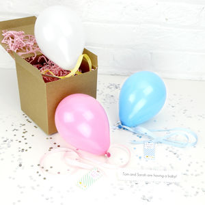 Personalised Baby Announcement Balloon - new baby cards